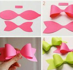 Easy Paper Bow DIY