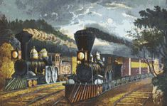 The Lightning Express Steam Train Counted Cross Stitch Pattern / Chart,  Instant Digital Download   (AP256)