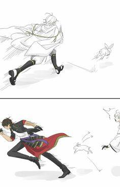 Date's swords: Tsurumaru, Ookurikara, Shokudaikiri, Sadamune Cute Chibi, Fun Comics, My Favorite Image, Manga, Touken Ranbu, Akira, Anime Guys, Anime Characters, Sword