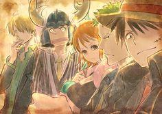 One Piece - Sanji, Usopp, Nami, Roronoa Zoro, and Monkey D. Luffy