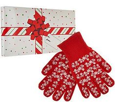 Temp-tations Set of 2 Holiday Oven Mitts w/ Gift Box