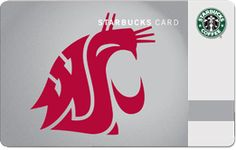 STARBUCKS Washington State University Card | As we all know, the winters in Pullman are cold, cold, cold but here's a little something to warm the heart of any WSU student or alum. It's the Washington State University Starbucks Card, a perfect gift for Cougs from all the people who love them.