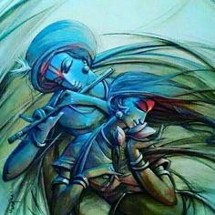 Abstract Krishna Paintings Radha Krishna The Eternal Love Art Series - Michelle Art Radha Krishna Wallpaper, Krishna Radha, Lord Krishna Images, Krishna Pictures, Indiana, Krishna Painting, Indian Art Paintings, Indian Artist, Hindu Art