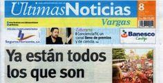 Ultimas Noticias Vargas sábado 20 de agosto