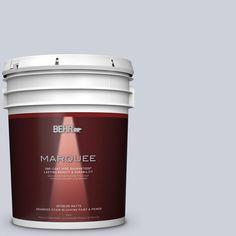 BEHR MARQUEE 5 gal. #MQ3-61 Moonlit Snow One-Coat Hide Matte Interior Paint