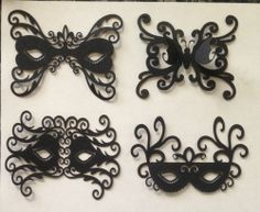12 masquerade mask card making embellishments