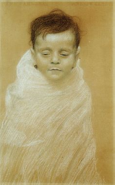 Gustav Klimt - Portrait of the Artist's Dead Son - Otto Zimmermann DLC Vienna.jpg