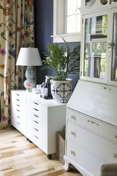 Navy Blue Home Office - The Inspired Room