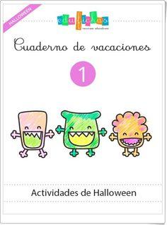 """Cuadernillo de Halloween 1 para Educación Infantil"" (Edufichas.com) Halloween 1, Teaching Tips, Kids Learning, Teacher, English, Ideas Para, Homeschooling, Planes, Diy"