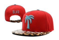 Hotsale Wholesale BLVD Red Leopard Flat Snapback Cap High Quality HipHop Polyester Adjustable Baseball Hats Free Shipping