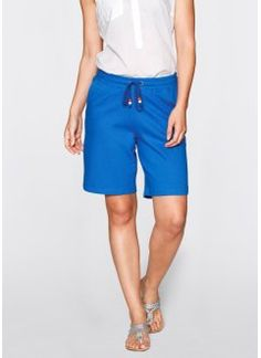 Sweatshorts, bpc bonprix collection, azurblå