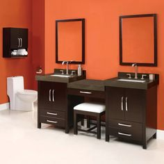 Buy the DecoLav Espresso Direct. Shop for the DecoLav Espresso Double Vanity with 1 Drawer Bridge and Vanity Stool. Choose Vanity Tops, Sinks and Mirrors and save. Teal Bathroom Decor, Modern Bathroom, Small Bathroom, Bathroom Ideas, Bathroom Accessories, Master Bathroom, Boho Bathroom, Bathroom Inspiration, Bathroom Vanities For Sale