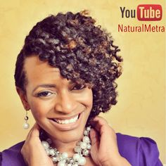 Holiday style idea: Flat Twist Updo Twist Out. Tutorial available on YouTube