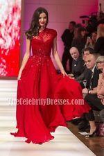 Miranda Kerr Red Sequined One Shoulder Prom Evening Dresses