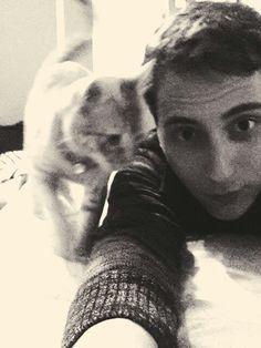 Feline curiosity.
