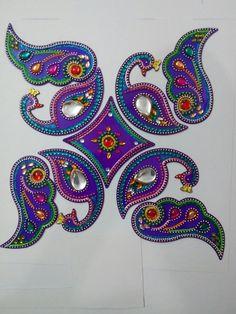 Acrylic rangoli with kundan work Diwali Diya, Diwali Craft, Acrylic Rangoli, Diwali Decorations, Rangoli Designs, Captain Hat, Projects To Try, Shoulder Bag, Hats