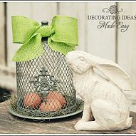 Simple and pretty Easter decor
