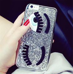 Silver Sequins Eyes Phone Case for iPhone 7/7S  https://www.lulugem.com/collections/all-phone-cases/products/gold-sequins-eyes-phone-case-for-iphone-7-7s?lshst=collection