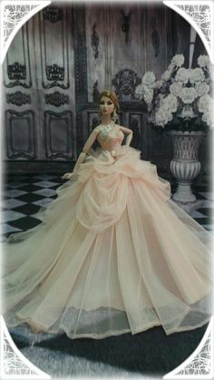 phakhapapha-PKPP-591 Fashion royalty Silkstone Princess Dress Gown Outfit for dolls 12