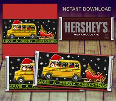 Christmas Candy Bar Wrapper, Bus Driver Appreciation, Bus Driver Christmas Gift, Bus Driver Thank You, Gift under Christmas Wrapper by LittlePrintsOttawa on Etsy Christmas Wrapper, Christmas Candy Bar, Holiday Candy, Teacher Christmas Gifts, Christmas Ideas, Christmas Time, Xmas, Bus Driver Appreciation, Teacher Appreciation Gifts