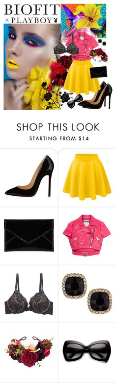 """BIOFIT x Playboy Contest Entry"" by galina-nadj ❤ liked on Polyvore featuring Marni, Christian Louboutin, LE3NO, Barneys New York, Moschino and Fragments"