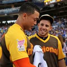 Giancarlo Stanton chats with Jose Fernandez during... | The Third Eye