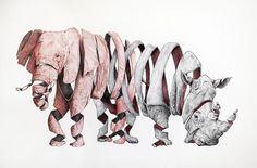 #obra #painting Ele-rino de Jaume Montserrat #Arttroop