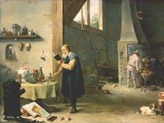 The Alchemist by David Teniers The Younger, mid-1600s