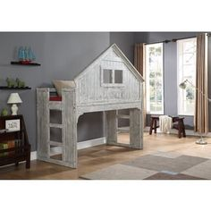 Donco Kids Brushed Driftwood Finish Club House Low Loft | Overstock.com Shopping - The Best Deals on Kids' Beds
