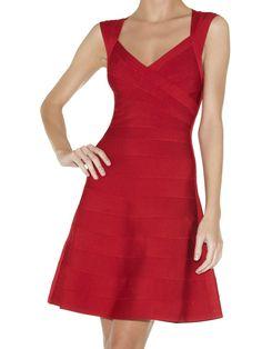 Herve Leger Bruna A-Line Bandage Dress