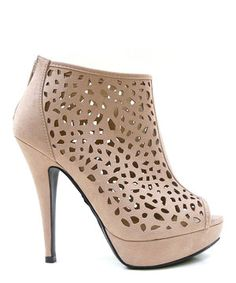 This MyDeliciousShoes Putty Edel Peep-Toe Bootie by MyDeliciousShoes is perfect! #zulilyfinds