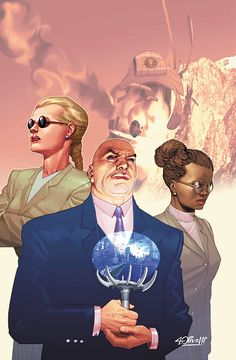 'Hope' and 'Mercy' (shown w/ Lex Luther, by Ariel Olivetti) Superbly trained and strong bodyguards in Detroit advancing agendas and laying groundwork for--? Dc Comics Characters, Dc Comics Art, Marvel Comics, Batman E Superman, Superman Family, Alex Ross, Gotham, Show Me A Hero, Dibujo