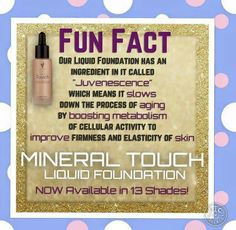 Fun fact about our liquid foundation