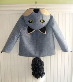 Fantastic Little Grey Fox coat. Molly Goodall (Little Goodall) a graduate of the Parsons School of Design. Etsy