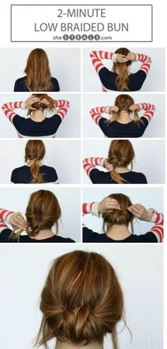 Low Braided Bun Hair Tutorial