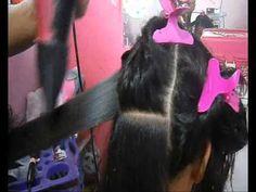 # como escova cabelos