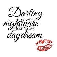 Image result for images taylor swift song lyrics quotes darling I'm a nightmare