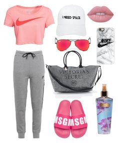 """""""🏋🏻✨"""" by giiovannatorres on Polyvore featuring moda, NIKE, MSGM, Victoria's Secret, NASASEASONS, Lime Crime, Ray-Ban e Casetify"""