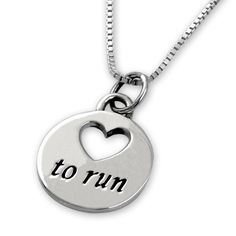 Show off your inner runner to all - Sterling Silver Love To Run Necklace | Sterling Silver Running Necklace | Sterling Silver Running Jewelry #FFSB #Holidayfitlist