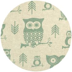 Premier Prints, HOME DEC, Hooty Eaton Blue/Linen