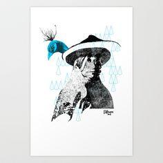 tewa girl 2 Art Print by Trevor Bittinger - $15.00