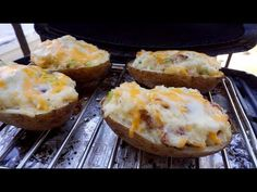 (7) How to Grill Twice Baked Potatoes on a Weber Q - YouTube