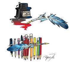 """""""#jesuischarlie #charliehebdo  Le dessin hommage du dessinateur lillérois Fabien Rypert confié à """"La Voix du Nord"""". """""""