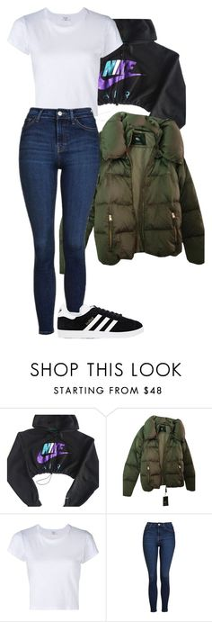 """Untitled #252"" by alexmlenek on Polyvore featuring NIKE, Zara, RE/DONE, Topshop and adidas"