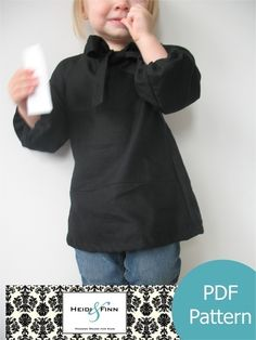 Girly little blouse pattern and tutorial PDF 12M-5T easy sew epattern.