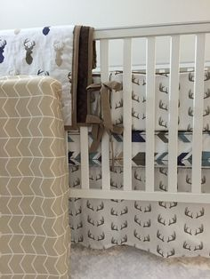 Custom crib bumpers, 6-piece set includes top piping and generous fabric ties for a quality finish. Standard Bumpers stand 9high, fitting
