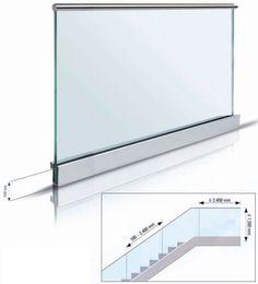 Barandillas de vidrio que se montan con facilidad