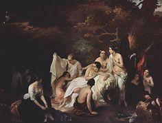 Francesco Hayez, Bagno di ninfe, 1831. Olio su tela, 92×119 cm. Collezione privata, Lugano