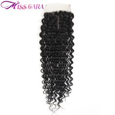 ==> [Free Shipping] Buy Best Miss Cara Deep Wave Brazilian Human Hair Closure Remy Hair Weave Bundles Light Brown Middle Part 4x4 Lace Closure Online with LOWEST Price   32799056717