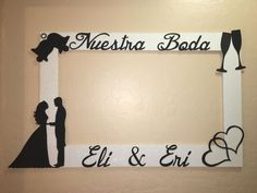 Wedding Nuestra Boda Engagement Photo Booth Frame to Take Pictures   eBay
